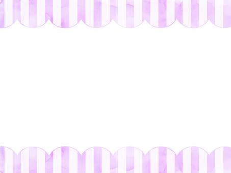 Watercolor stripe frame 2 purple