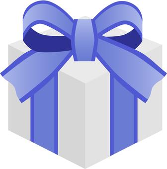 파란색 리본 선물