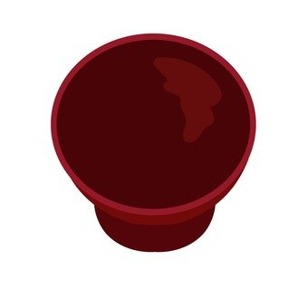 Cup of lacquer ware