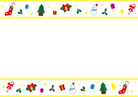 Christmas frame white