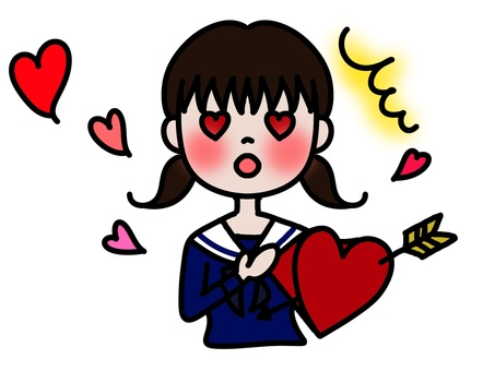 A girls student in love