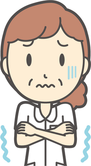 中年女護士白大衣-163-胸圍