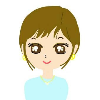 Icon Woman piercing short hair