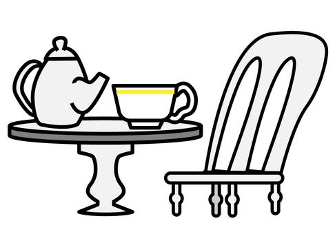 Tea and desk