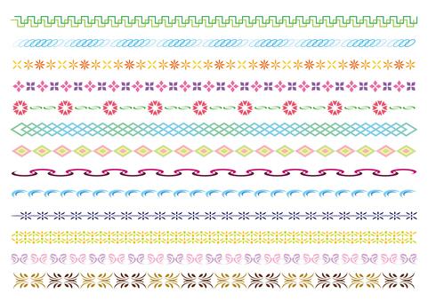 23-line and decorative rule set 5 color A