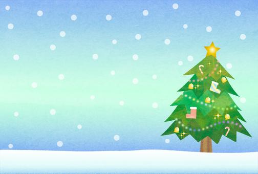 Christmas tree / snow scene