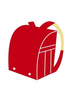School bag (red)