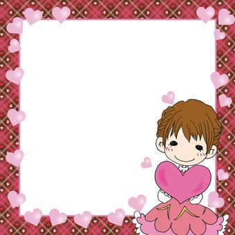 Check pattern square frame 2