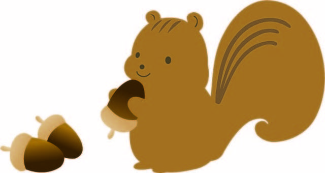 도토리를 먹는 다람쥐 2