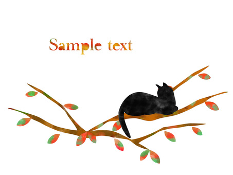 Deciduous leaves and cats _ 04