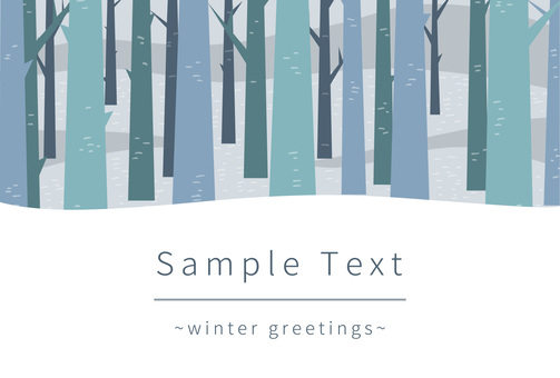 Winter Forest Postcard 01