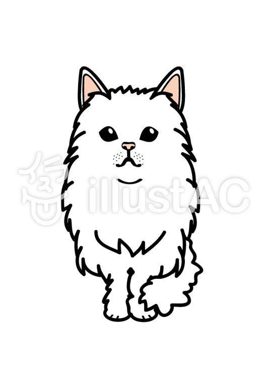 ペルシャ猫イラスト , No 781034/無料イラストなら「イラストAC」