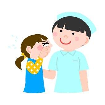 Nurse and girl