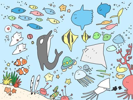 Aquarium wallpaper color