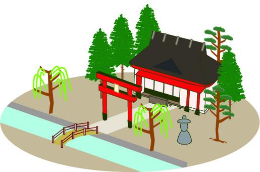 Shrine temple visit