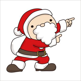 Pointing Santa 3