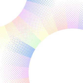 ドットグラデーション6・虹