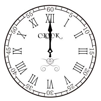 Clock 0 o'clock 12 o'clock 24 o'clock