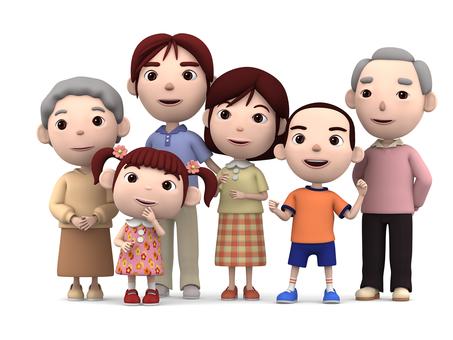 3世代6人家族