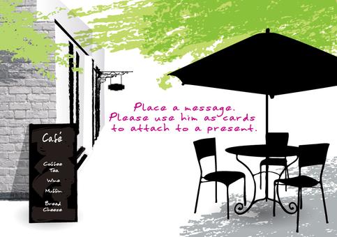 Fresh green cafe