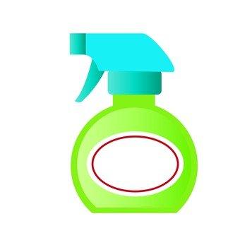 Spray type detergent, yellow green, round type