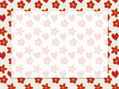 Valentine card (Japanese style red)