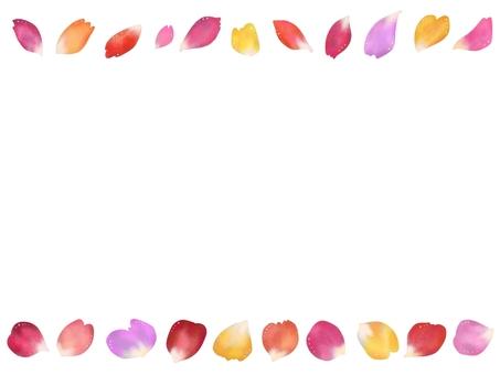 Real petals and glitter