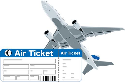 Airplane Air Ticket Ticket