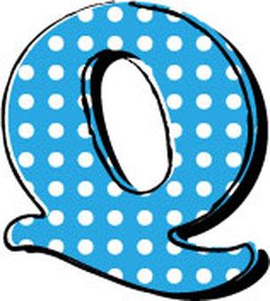 Dotted alphabet Q