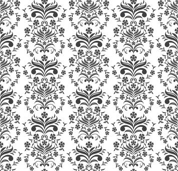 中国文様-石竹パターン(黒)