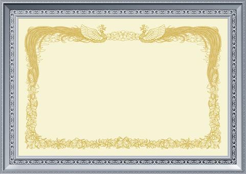 Certificate frame silver frame