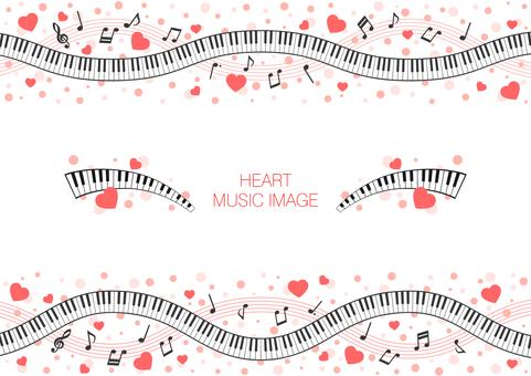핑크 하트의 음악 이미지