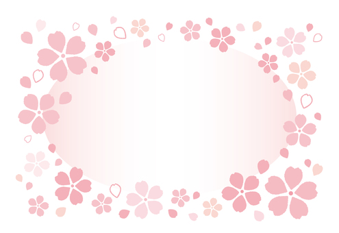 Fluffy Cherry Blossom Frame 03 [Postcard]