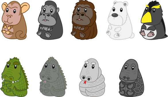 Zoo animals set 6