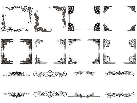 Frame black set