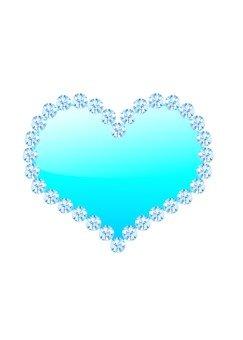 鑽石磨邊心(藍)