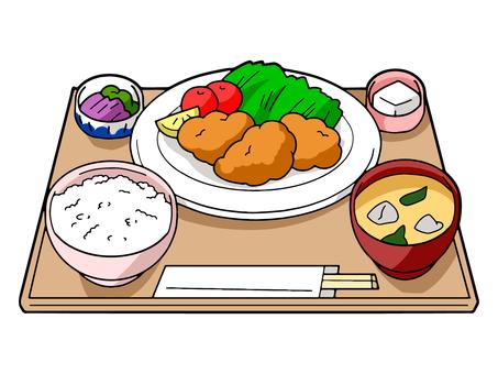 Karaage set meal