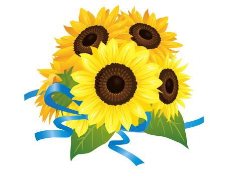 Summer flower · Sunflower (sunflower) Bouquet 01