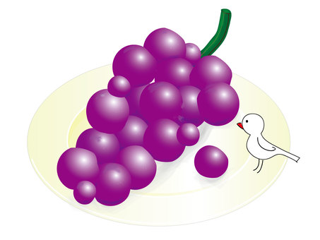 Grapes and small birds