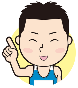 Fingering male athlete (smile)