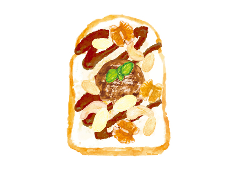 """""""Watercolor style"""" open sand _ chocolate and nuts"""