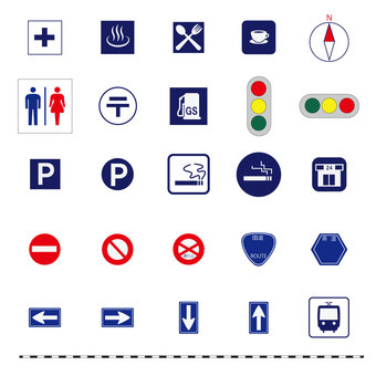 Map icon set