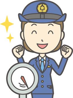 Female Police Officer-294-Bust