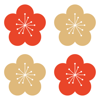 Plum flower pattern