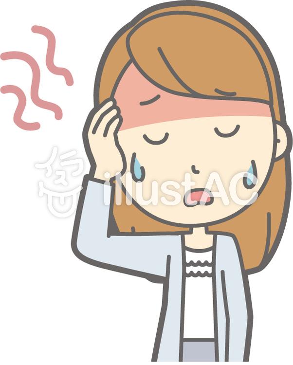 女子大生a-発熱-バストのイラスト