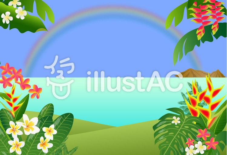楽園の風景のイラスト