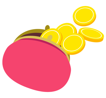 Purse and coin (Pink