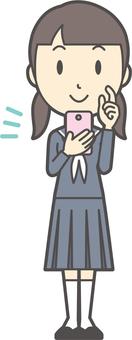 初中水手女子-069-全身