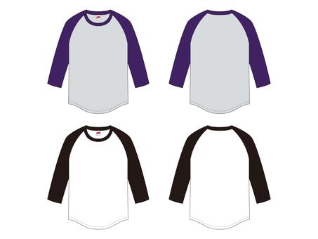 Raglan Three-quarter Sleeve T-shirt