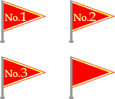 Number Flag Triangle